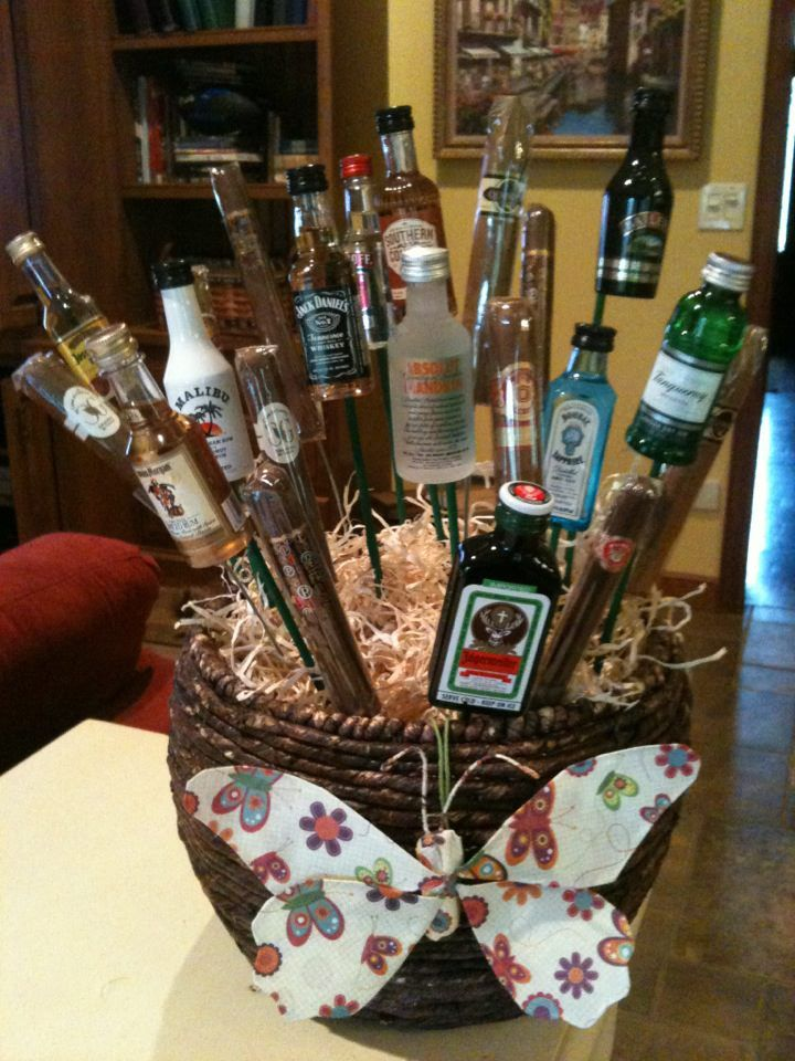 My booze and cigar gift basket for the golf tournament and wine fest to benefit the Annville Memorial Day Parade.
