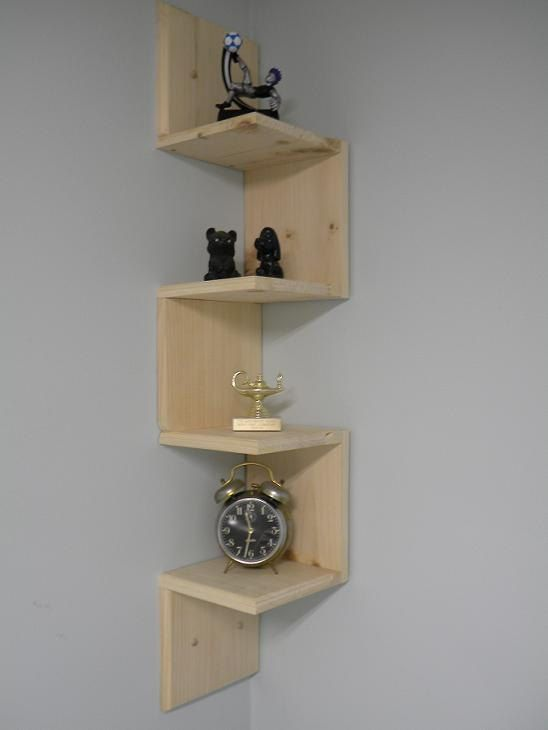 Wall mounted corner shelf Retro