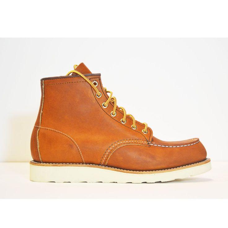 Botas marrones de cuero #botas #modahombre #Parafernalia #RedWing #RedWingShoes