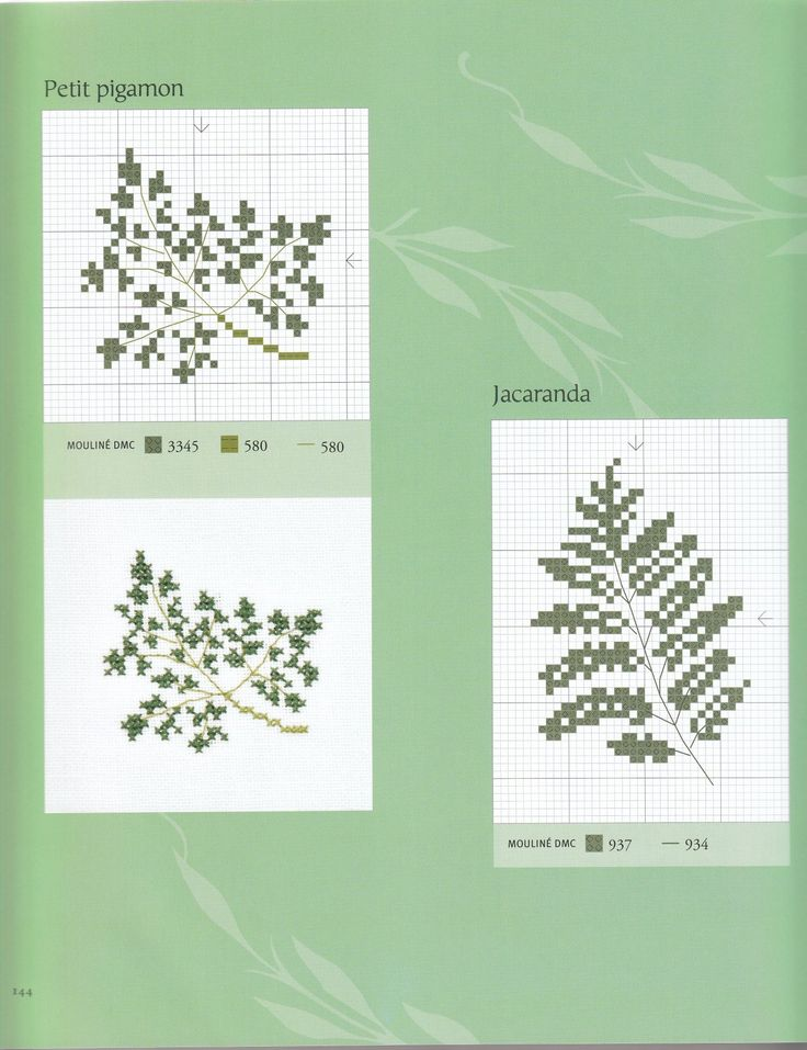 Best cross stitch ferns plants herbs images on