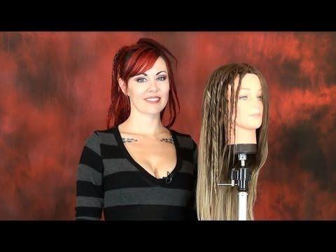 How to Create Temporary Hairspray Twist Dreads - DoctoredLocks.com - YouTube