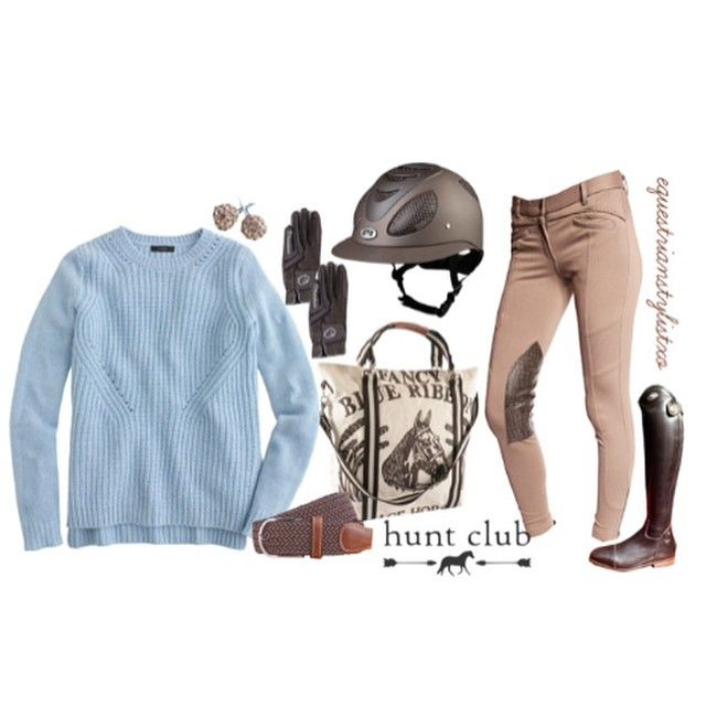 """""""Hunt Club Here is my second Hunt Club Show your Style entry. I love this classy look! Enjoy! * J.Crew Sweater $98 * Ghodho Tessa Breech * …"""""""