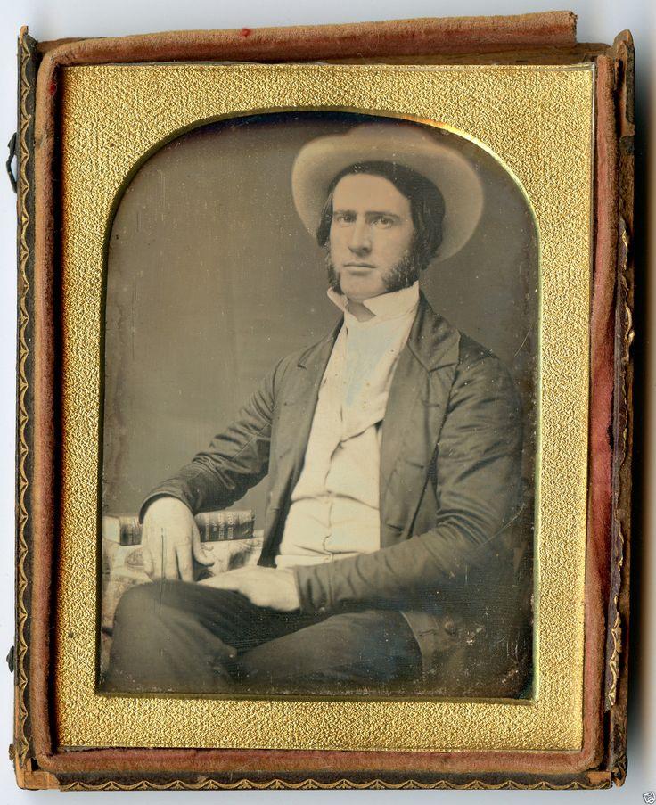 Antique Daguerreotype 1851 US Patent Office Agriculture Book Inventor 1 4 Photo…
