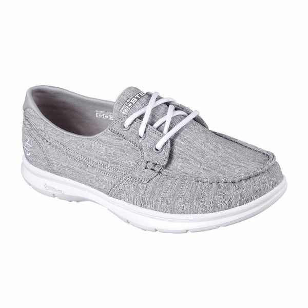 Skechers Marina Womens Boat Shoes ($70) ❤ liked on Polyvore featuring shoes, skechers, boat style shoes, skechers footwear, boat shoes and deck shoes
