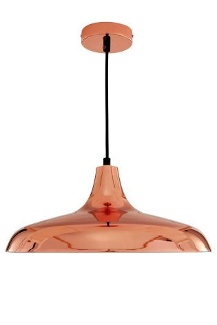 We love this Oslo Pendant, £40 from Next - perfect for low level lighting over a a long dining table.