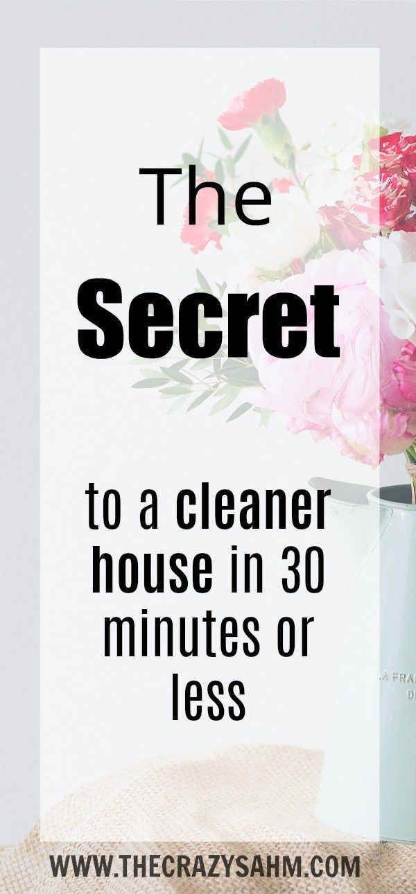 Need your house to look somewhat presentable in a flash? Check out the secret to a cleaner house in 30 minutes or less by clicking here!