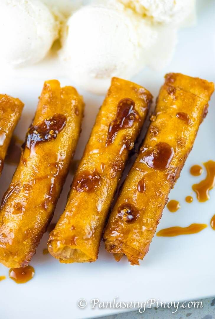 Mini Turon Recipe (Banana Lumpia with Caramel)