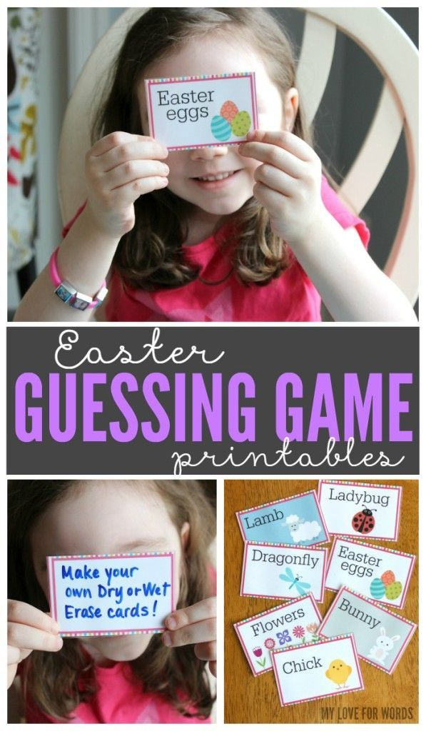 Celebrate spring with a fun family game with these free printable Easter Guessing Game cards. #Easter #game #free #printable
