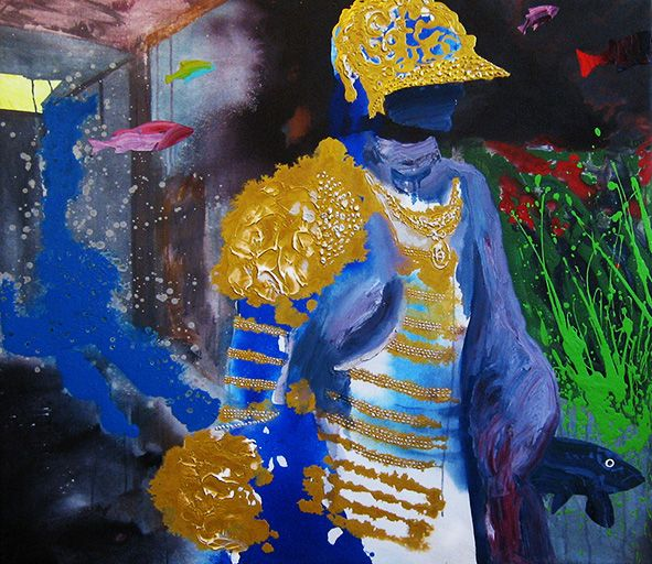 My Space / Oma tila, 2014, oilcolour and acrylic on canvas, 120 x 130 cm. #art #taide #contemporaryart #armour #haarniska #kala #fish #artwork #kunst #konst #искусство