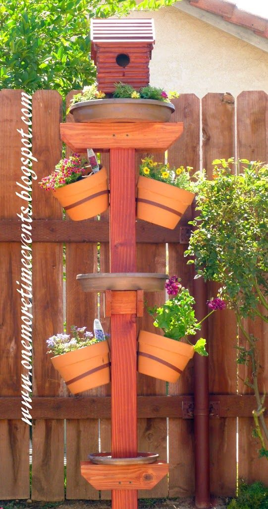 Bird house/bath/Feeder - One More Time Events..and plant stand! This is…