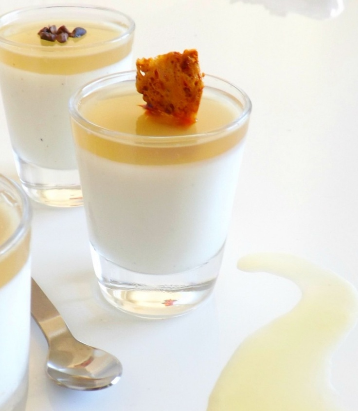 Honey Panna Cotta with honey gelee and honeycomb crunch! | Sweets ...
