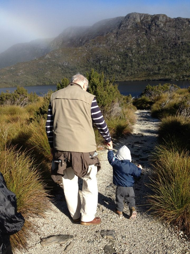 """""""Me and Granddad at Cradle Mountain"""", a winning entry in our Trip to Remember competition"""