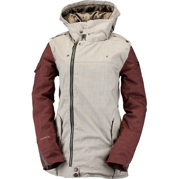 Cappel Heartbreak Insulated Womens Snowboard Jacket - British Khaki Chambray