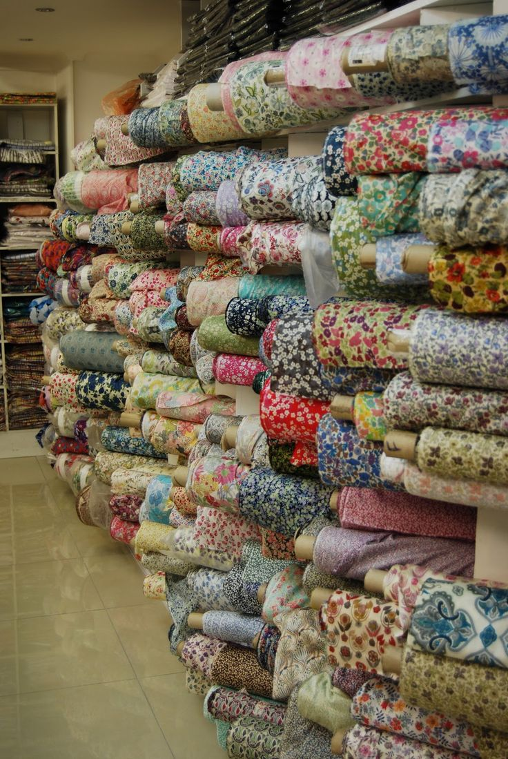 Liberty fabrics in London -Para volverme loca !!