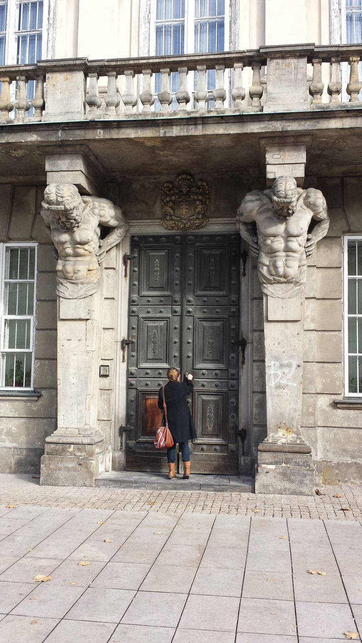 The magnificent doorway of the Tyszkiewicz Palace, Krakowskie Przedmieście, Warsaw.