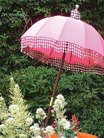 raj garden parasol by indian garden company.   notonthehighstreet.com