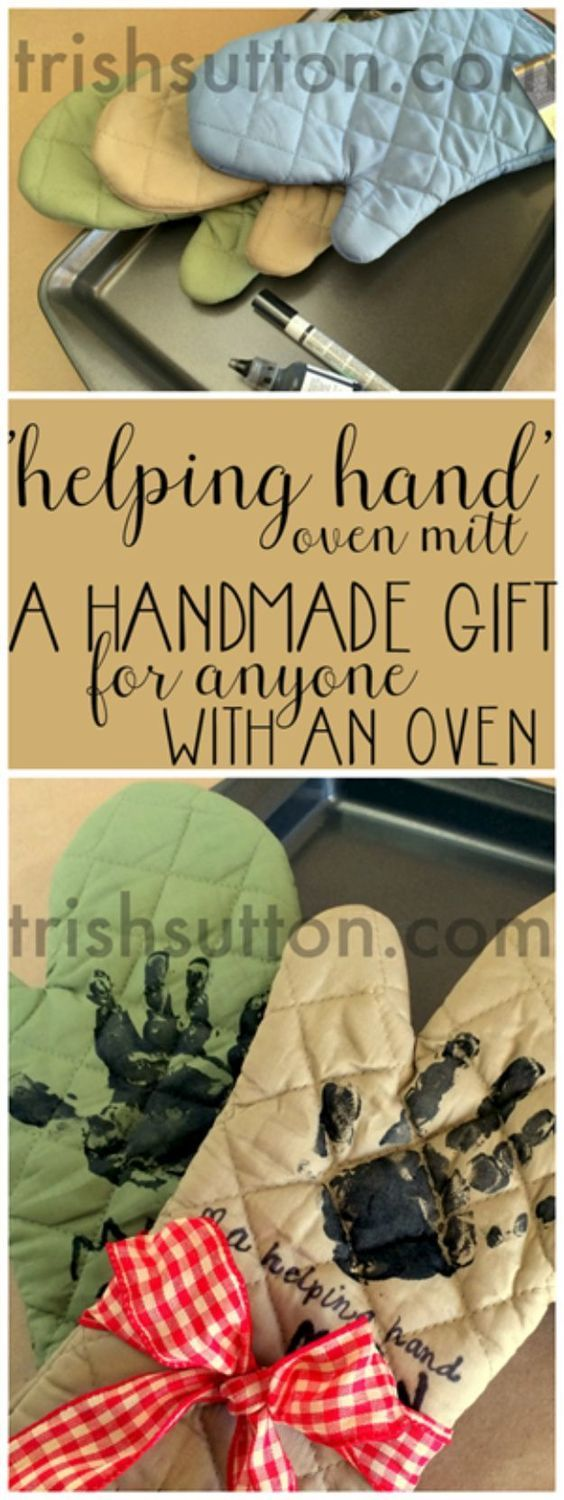 Creative DIY Mothers Day Gifts Ideas - A Helping Hand Mother's Day Gift - Thoughtful Homemade Gifts for Mom. Handmade Ideas from Daughter, Son, Kids, Teens or Baby - Unique, Easy, Cheap Do It Yourself Crafts To Make for Mothers Day, complete with tutorials and instructions http://diyjoy.com/diy-mothers-day-gift-ideas