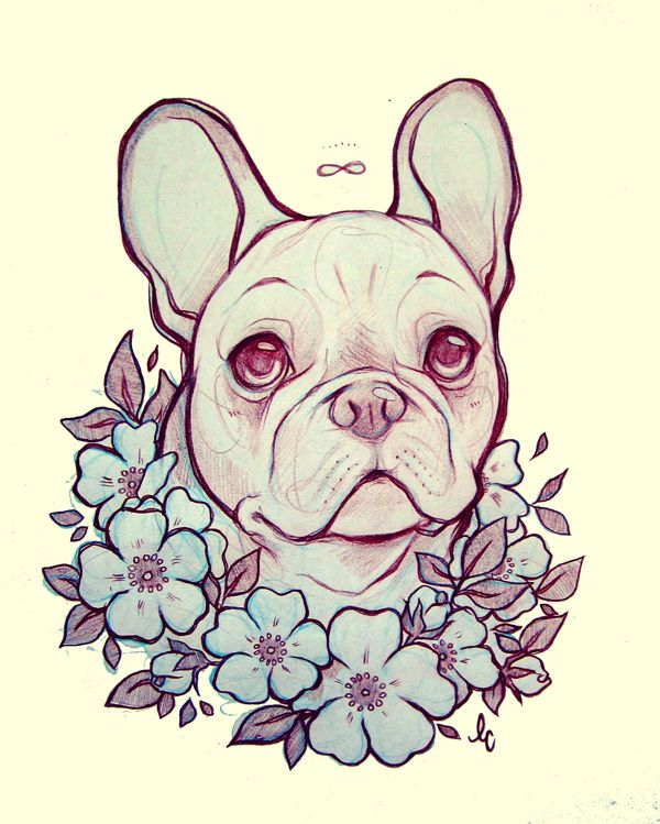 bulldog frances*-* lindsay campbell art <3