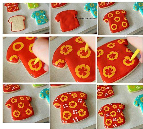 hawaiian shirt cookie