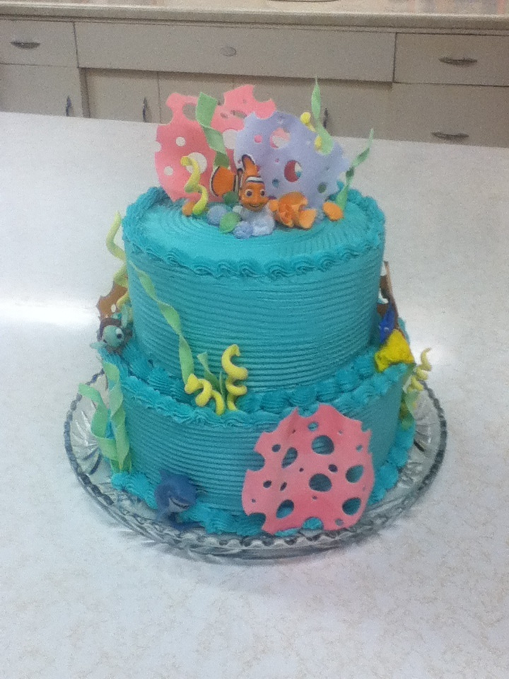 finding nemo cake for baby shower lots of hours work and love wet