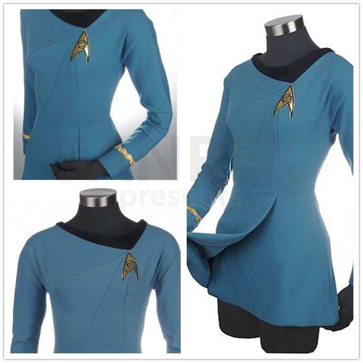 Star Trek Cosplay Female Duty Uniform Blue Dress Costumes                                                                                                                                                      More