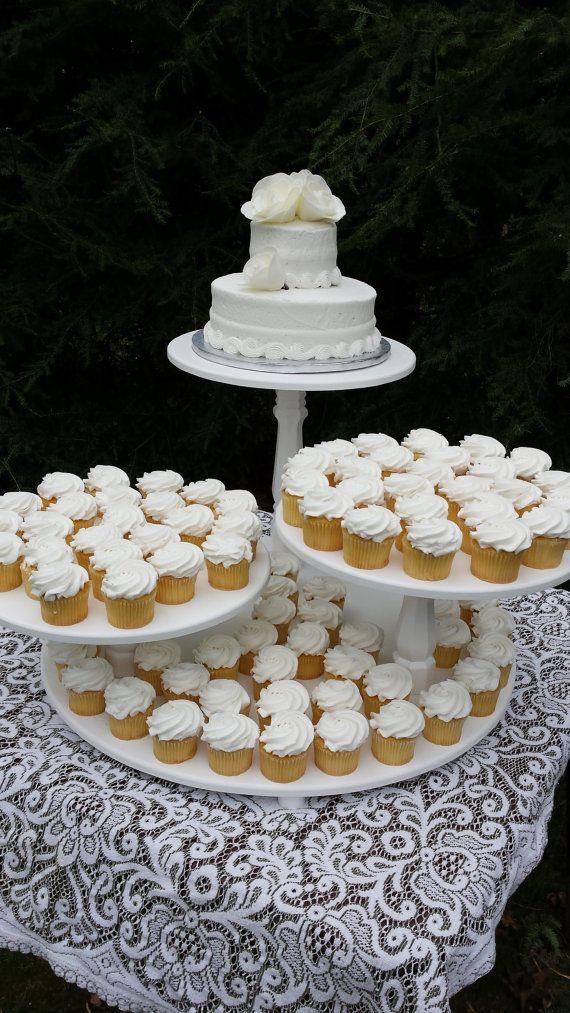 cupcake stand cake stand wedding cake stand wedding cupcake stand pie stand dessert stand wood cupcake stand 3 tier cake stand