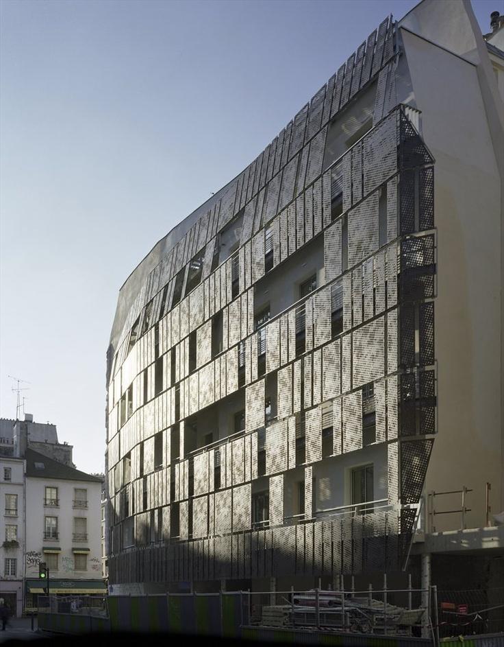 Social Housing, 1 Rue De Turenne, Paris, 2009 by Chartier-Corbasson Architectes #architecture #paris #facades