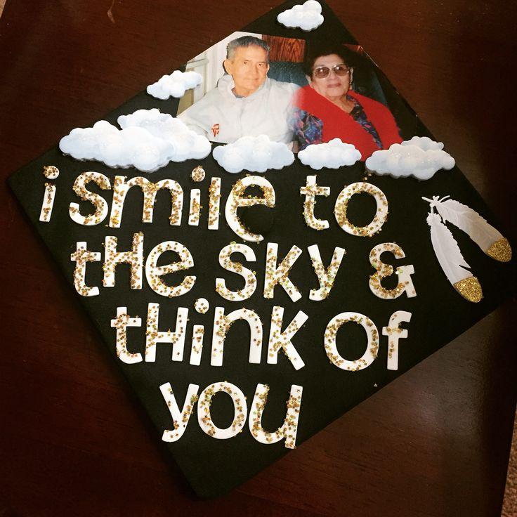 Grad cap. Couldn't have done it without them #rip #nana #grandpa #csula #2016