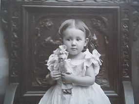 Dear Cabinet Photo of Child and Her Doll (item #1285849)