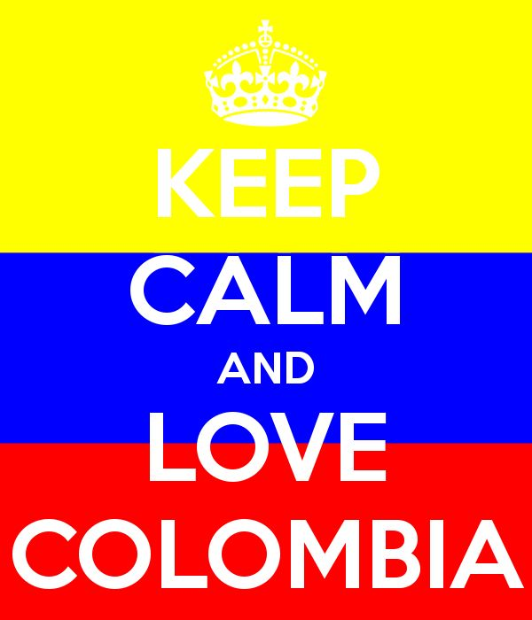 Keep Calm And Love Colombia