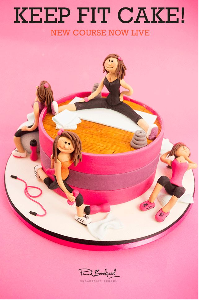 Workout Cake. Isn't this an oxymoron? Lol