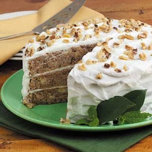Hummingbird Cake Recipe -This impressive cake is my dad's favorite, so I always make it for his birthday. It also makes a great Easter dessert and is lovely with a summer meal. —Nancy Zimmerman, Cape May Court House, New Jersey