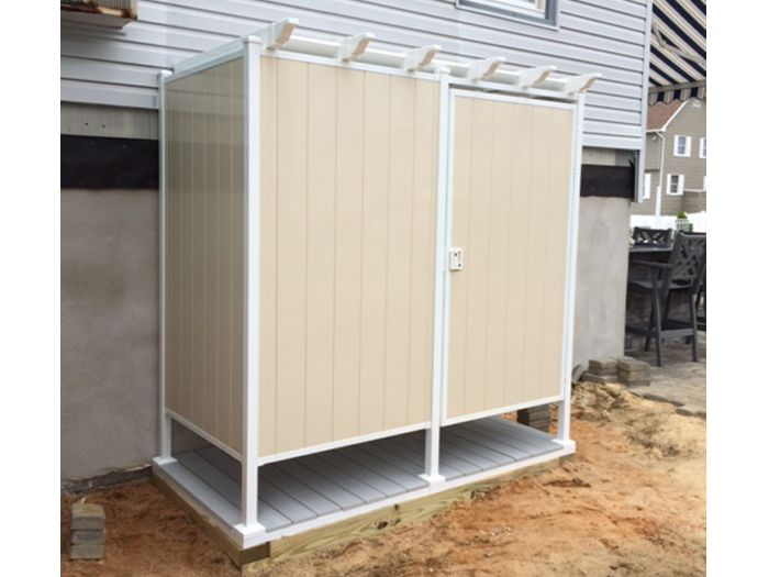 Outdoor Shower Kits: Double Shower Stall | OutdoorShowers.net