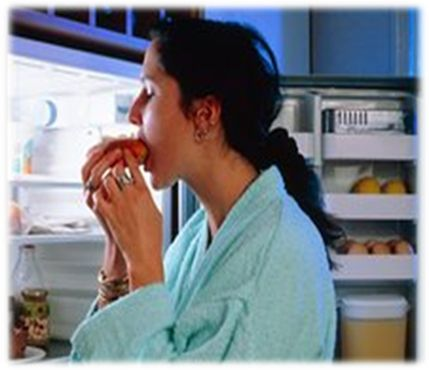 Night eating syndrome is likely to binge eating disorder. Some night eaters are also binge eaters which will create multiple problems.