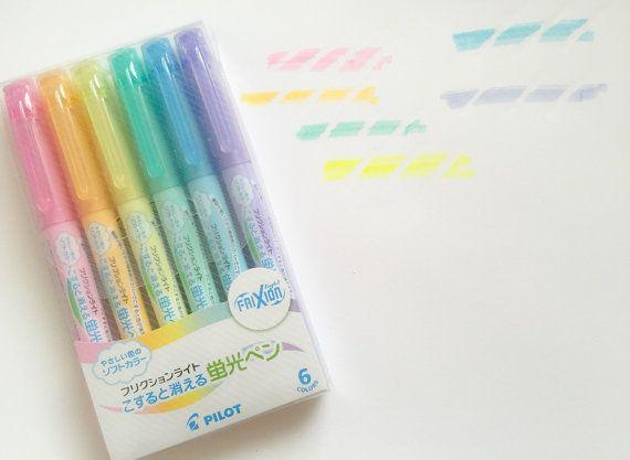 Pilot FriXion Pastel Highlighter Pen Filofax EC by HappyMailOsaka