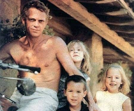 Steve McQueen and his kids.