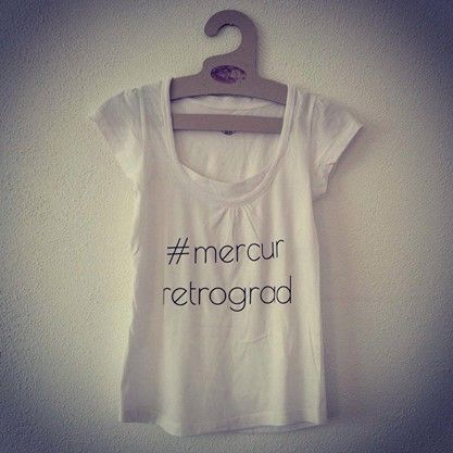 The communication T-shirt #mercur retrograd - photo by Ioana Nicolescu