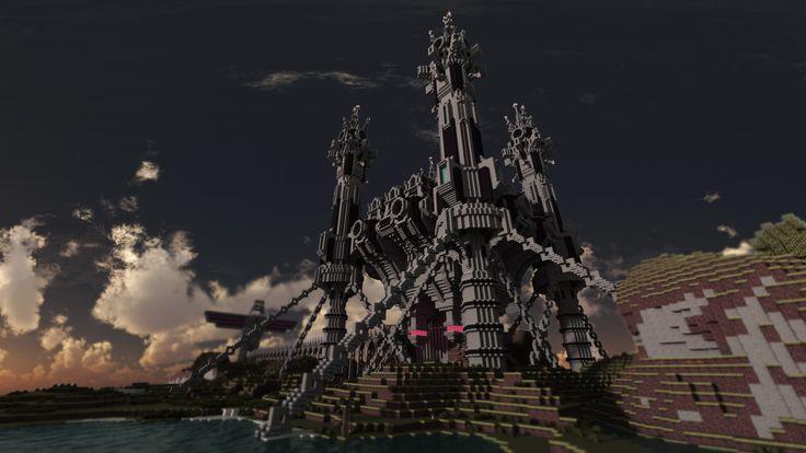 Amazing Minecraft Fortress Render