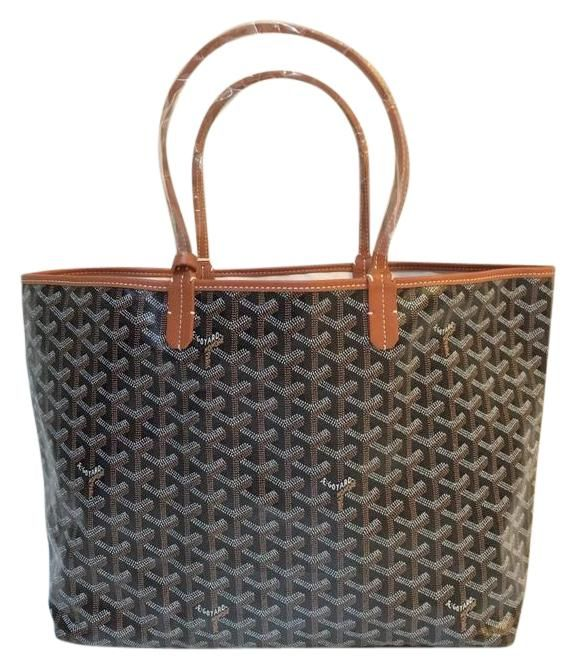 Goyard Brand New Black Tan Saint Louis (st. Louis) Pm Tote Bag. Get one of the hottest styles of the season! The Goyard Brand New Black Tan Saint Louis (st. Louis) Pm Tote Bag is a top 10 member favorite on Tradesy. Save on yours before they're sold out!