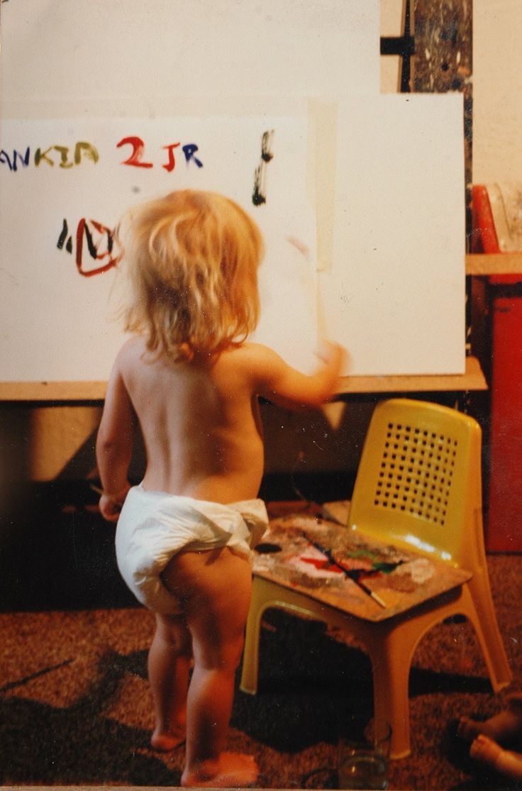 So this is how it all started... Having an endless supply of painting materials meant that art was an easy way to stay entertained while growing up.