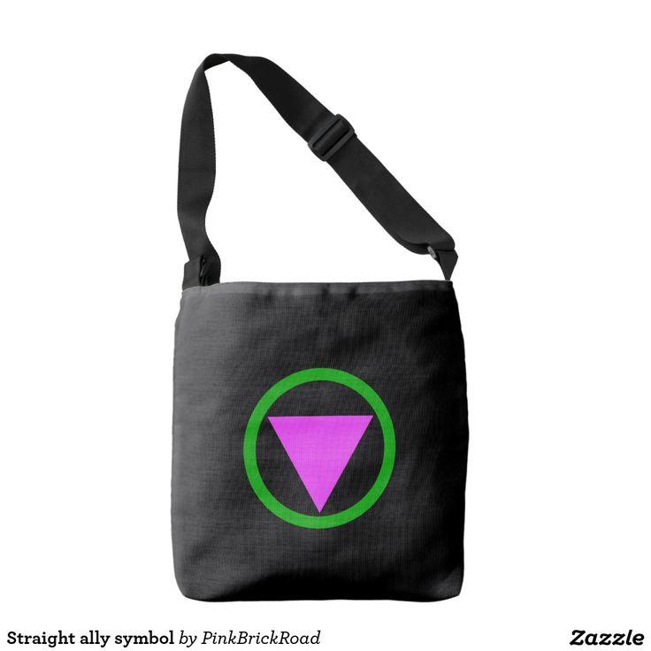 Straight ally symbol tote bag