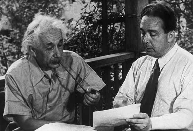 Albert Einstein was encouraged by his colleague Leo Szilard to pen a letter to President Roosevelt warning of the dangers of a possible German atomic bomb