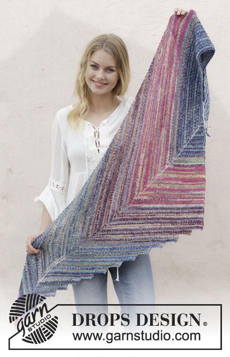 Point the Way Garter Stitch Shawl Free Knitting Pattern