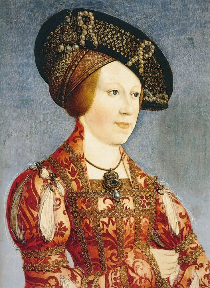 Hat with cap - 1519 - Queen Anne of Hungary and Bohemia by Hans Maler zu Schwaz
