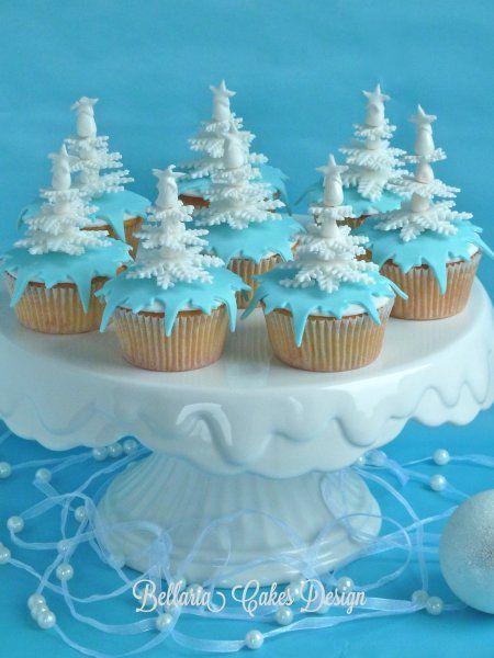 Cupcakes for a winter wedding theme