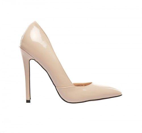 Pantofi Mirya Bej -  Piele eco lacuita  Colectia Incaltaminte de la  www.cadoupentruea.ro