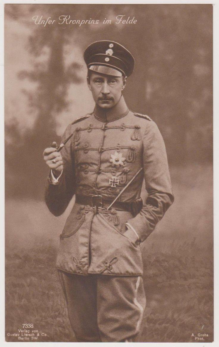 Ak, Kronprinz Wilhelm von Preußen, Leib-Husaren-Regiment, im Felde, Adel