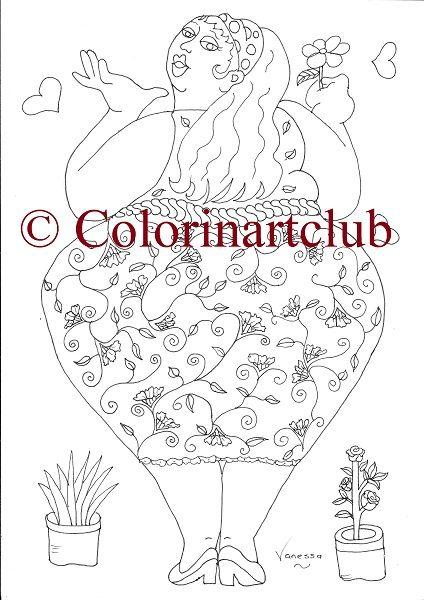 Fat Ladies Galore 10 unique designs R55/ $5 at https://www.colorinart.club