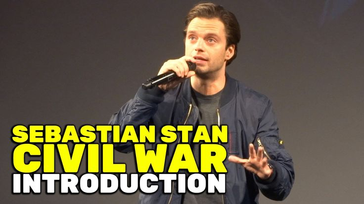 "Sebastian Stan (Bucky Barnes) & Chris Hardwick introduce ""Captain America: Civil War"" at El Capitan    //Pinterest & Tumblr: aloraphernelia//"