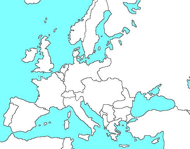 Blank map of europe during world war 1 blank outline map of cold war europe free download gumiabroncs Image collections